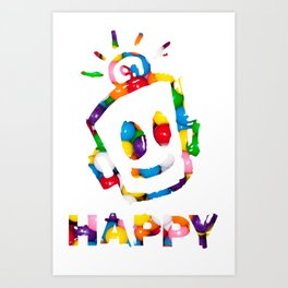 HAPPY GUMBALLS Art Print