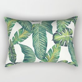 Jungle Leaves, Banana, Monstera II #society6 Rectangular Pillow