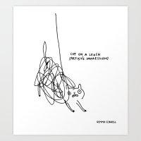 (Feeling like a)  Cat on a Leash Art Print