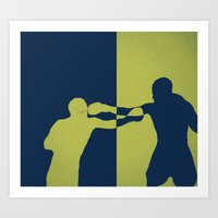 boxing Art Prints featuring Boxing by NKlein Design