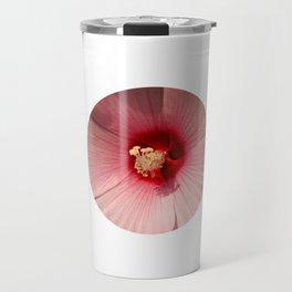 Pink Hibiscus Close-up Flower Photography Travel Mug