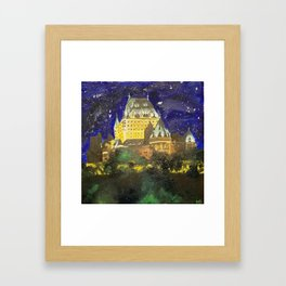 Chateau Frontenac Framed Art Print