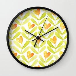 Corazones naranjas Wall Clock