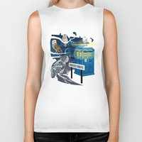 hedwig Biker Tanks featuring Hedwig Says Who! by Laughing Devil