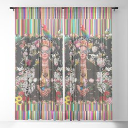 Frida OTT Kahlo You Are Too Much Sheer Curtain