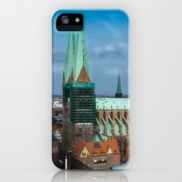 Church in the city Lübeck Germany iPhone Case