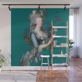marie Antoinette teal Wall Mural