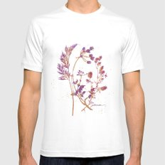 Botanical 1 Mens Fitted Tee MEDIUM White