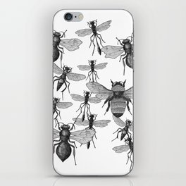 Bees and wasp Flying iPhone Skin