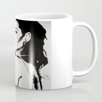 rihanna Mugs featuring Rihanna by Ellie Wilson Designs