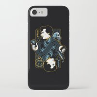 221b iPhone & iPod Cases featuring The Detective of 221B by WinterArtwork