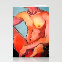 nudes Stationery Cards featuring Nudes: Atlas IV by Adam James David Anderson