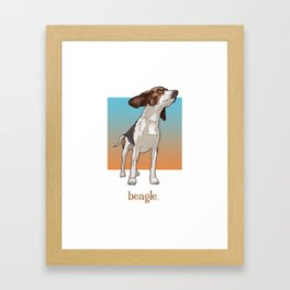 Beagle. Framed Art Print