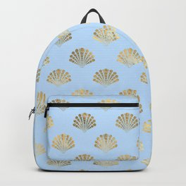 Elegant Seashell Pattern Backpack