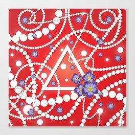 Petals and Pearls Canvas Print