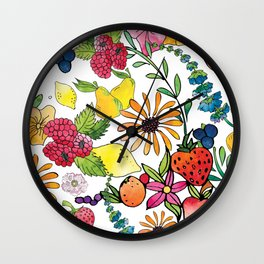 Fruits in the Forest Wall Clock