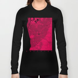 Adelaide map rapsberry Long Sleeve T-shirt