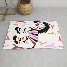 Colorful zebra Rug