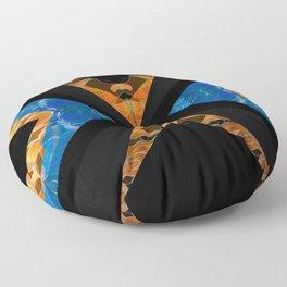 Focus & Poise Structured Sacred Geometry Modern Mind Mandala Floor Pillow