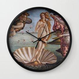 Sandro Botticelli The birth of Venus 1485 Artwork for Prints Posters Tshirts Men Women Kids Wall Clock