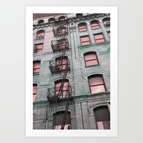 New York City Fire Escape Art Print