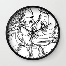 Boys kiss too Wall Clock