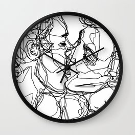 Boys kiss too Wall Clock