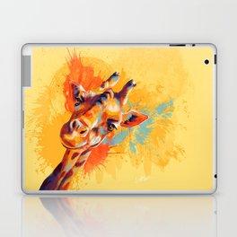 Hello - giraffe portrait, cute and funny animal illustration Laptop & iPad Skin