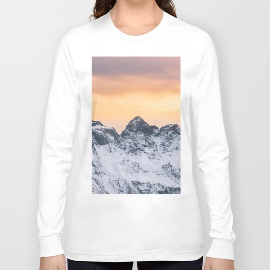 Pastel Mountains #sunset Long Sleeve T-shirt