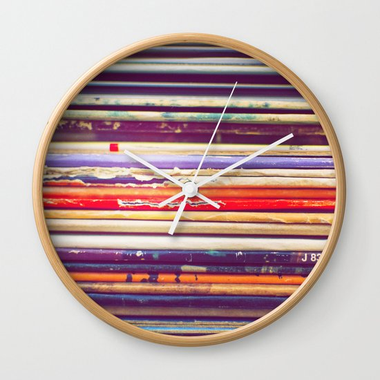 Grandpa's Records Wall Clock