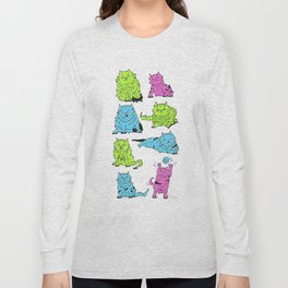 Fluro Cats Long Sleeve T-shirt