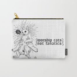 worship cats - not fanatics Carry-All Pouch