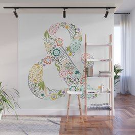 Intricate Floral Ampersand Wall Mural