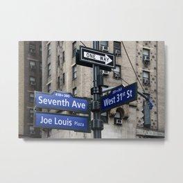 New York City Street Names Metal Print