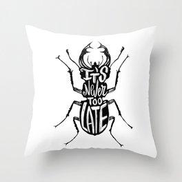Typo Bug Throw Pillow