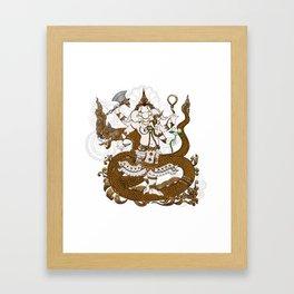 Garnesha Mash Up Framed Art Print