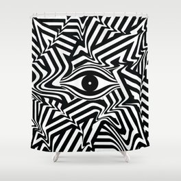 Striped Lines Eye Shower Curtain