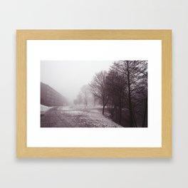 Fog by the River Framed Art Print