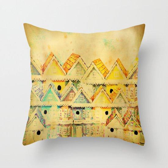 Bird Town 023 Throw Pillow