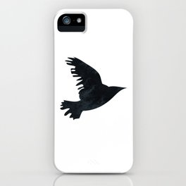 Ravens Birds in Black and White iPhone Case