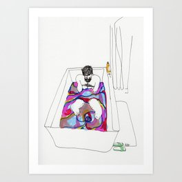bath bomb Art Print