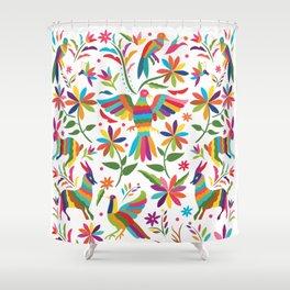 Mexican Otomí Design Shower Curtain
