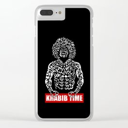 Khabib Angry Time Clear iPhone Case