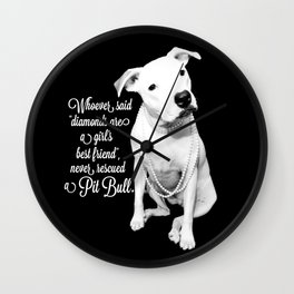 Girls Best Friend Wall Clock