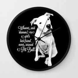 Girls Best Friend Wall Clock