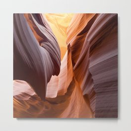 antelope canyon beam Metal Print