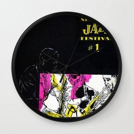 1954 Newport Jazz Festival Vintage Advertisement Poster Newport, Rhode Island Wall Clock