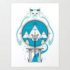 A Legend of Snow Art Print