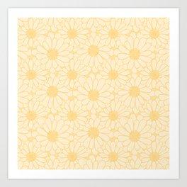Common Marigold Flower Pattern Art Print