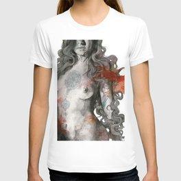 Edit Your Wounds (nude mandala girl erotic drawing) T-shirt